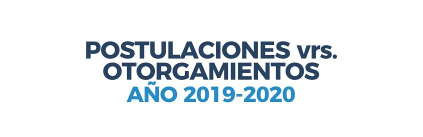 Descargue documento con el informe de postulaciones vs otorgamientos por fuente cooperante 2019-2020